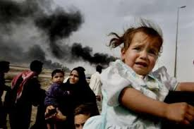 refugee scared child