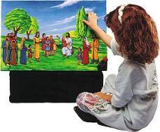 girl flannel board