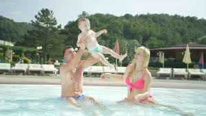 dad in pool