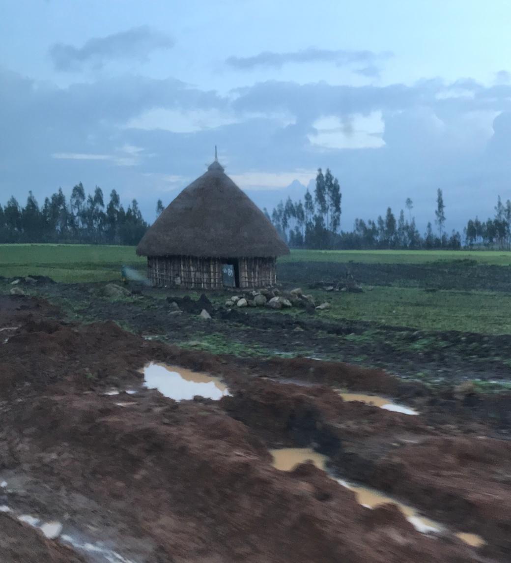 ethiopia hut in mud